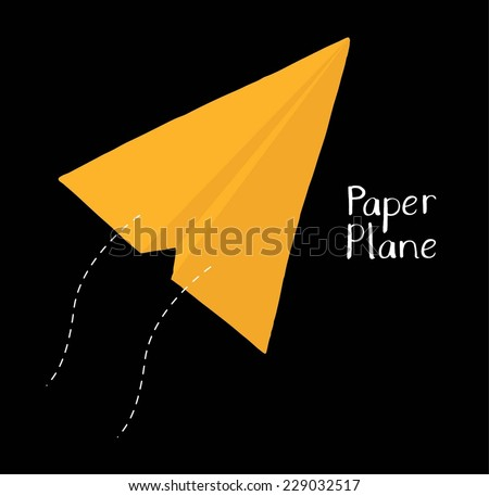 Paper airplane. - stock vector