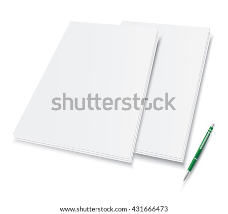 Paper and pencil - stock vector