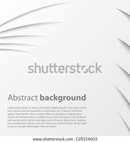 Paper background with shadow. Vector background - stock vector