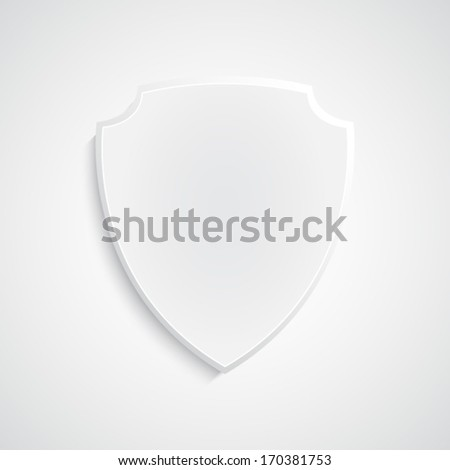 Paper background with shield. Paper shield icon EPS10 vector - stock vector