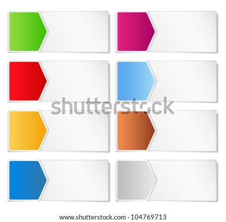 Paper banners with arrows, vector eps10 illustration - stock vector