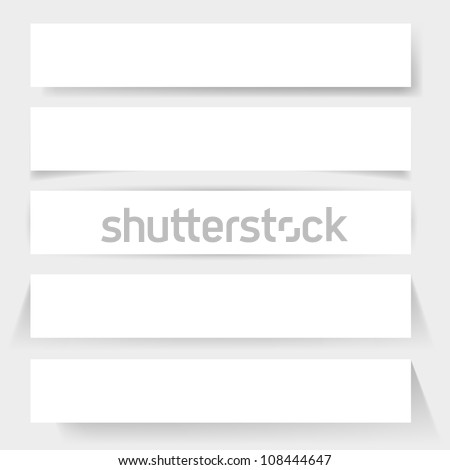 Paper board shadows. Illustration for design on white background - stock vector