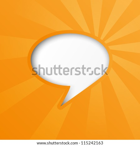 Paper bubble background with sun rays - stock vector