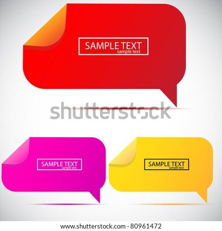 Paper bubble for speech - stock vector
