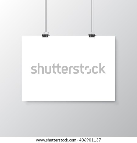 Paper Card - stock vector