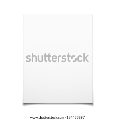 Paper Card Isolated On White Background - stock vector