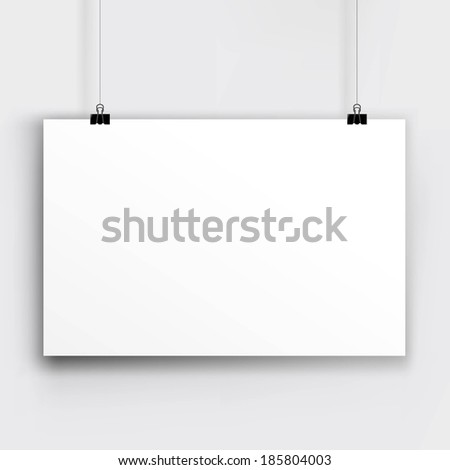 Paper Card, With Gradient Mesh, Vector Illustration - stock vector