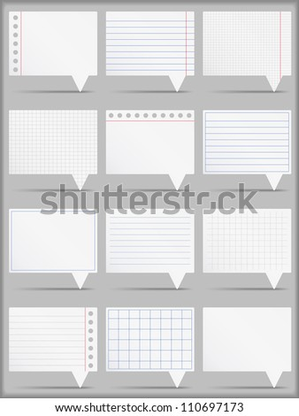 Paper cards, vector eps10 illustration - stock vector