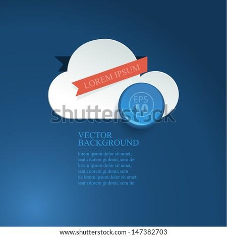 Paper cloud, weather report - stock vector