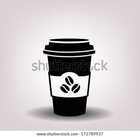 paper coffee cup - stock vector