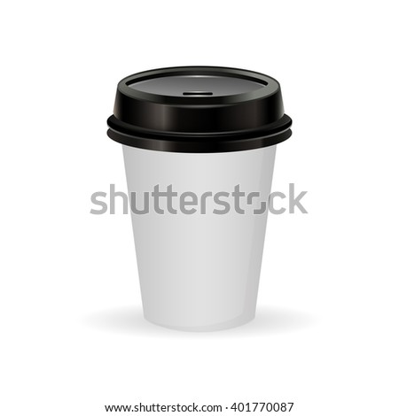 paper  coffee cup as illustration of coffee take out - stock vector