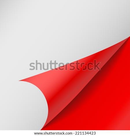 paper corners. Vector illustration - stock vector