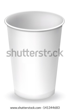 Paper Cup close up. EPS-10 - stock vector