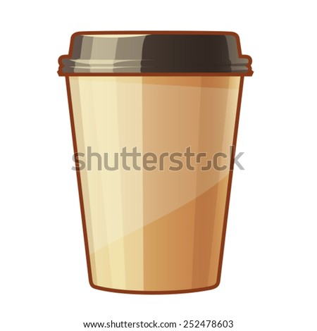 Paper cup for coffee to go - stock vector