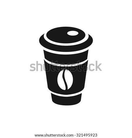 paper cup icon - stock vector