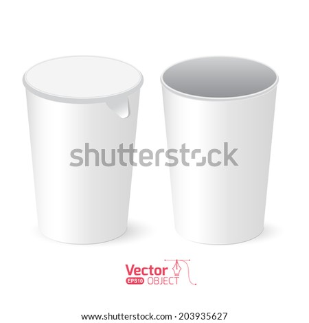paper cups for business tea - stock vector