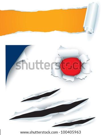 paper curl - stock vector
