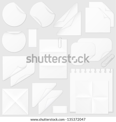 Paper design elements collection - eps10 - stock vector