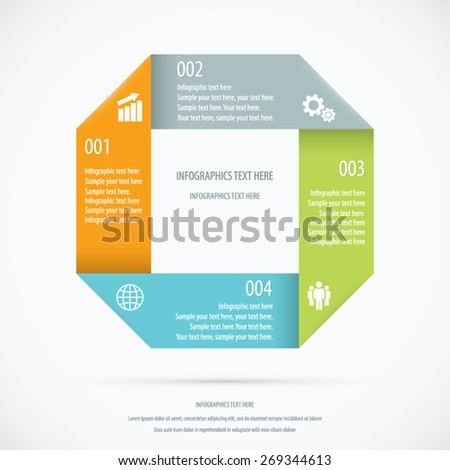 Paper Design Infographic Background. EPS 10 vector. - stock vector