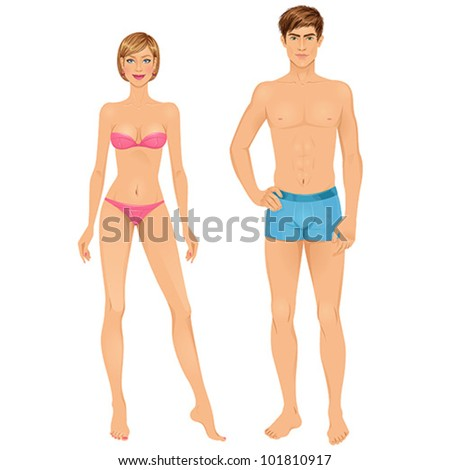 Paper doll stock photos images pictures shutterstock for Paper doll template woman