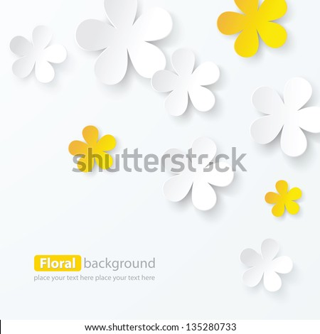 paper floral background - stock vector