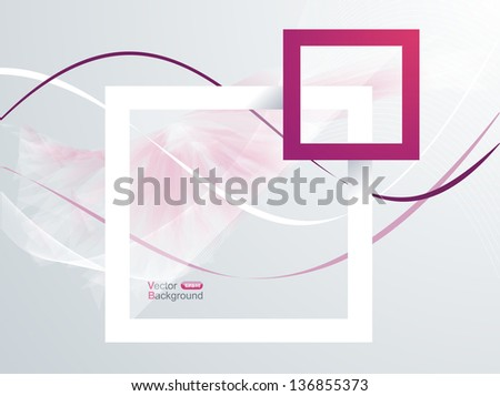 Paper Frames. Abstract 3D Geometrical Design - stock vector