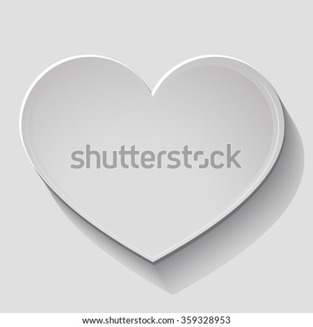 Paper heart. Vector background. Template cards for Valentine's Day. On a white background. Banner with space for writing. Valentine's Day. design element One isolated heart. design element - stock vector
