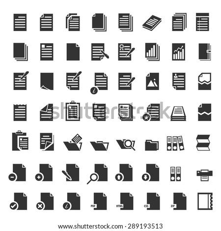 Paper icon, document icon,Vector EPS10 - stock vector