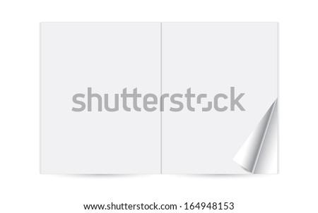Paper magazine booklet, template reversal journal - stock vector