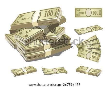 paper money - stock vector