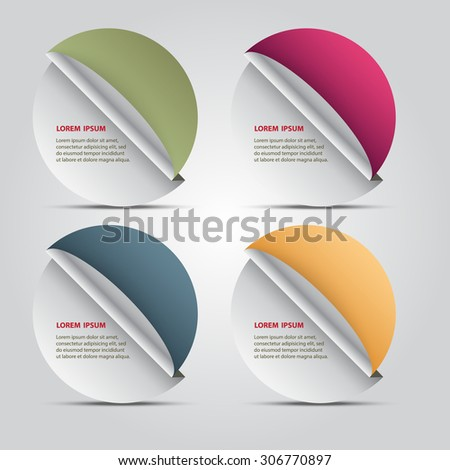 Paper number options template, Vector design template, - stock vector