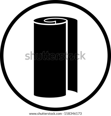 Paper or or textile fabric roll  - stock vector