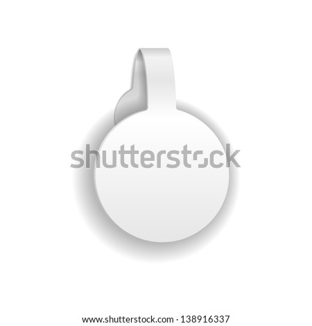 Paper Or Plastic Wobbler. Isolated On White. Vector Illustration - stock vector