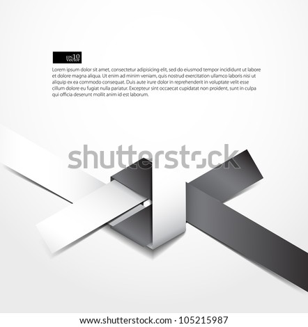 Paper origami knot background - stock vector