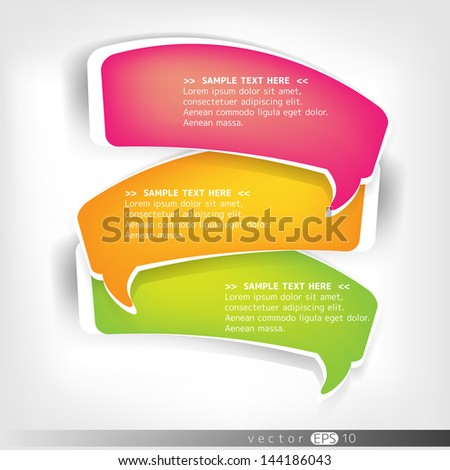 Paper origami speech bubble - stock vector