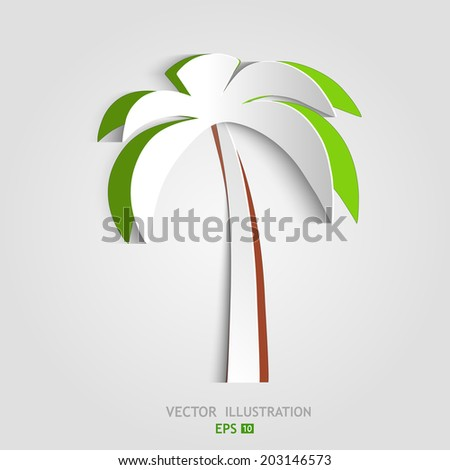 Paper Palm - stock vector