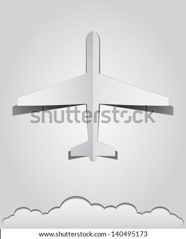 paper plane background - stock vector