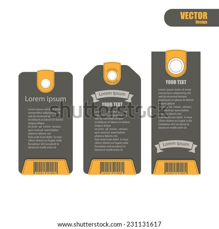 paper price tag.vector - stock vector