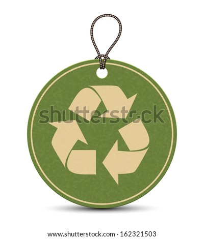 Paper recycle tags isolated on a white background - stock vector