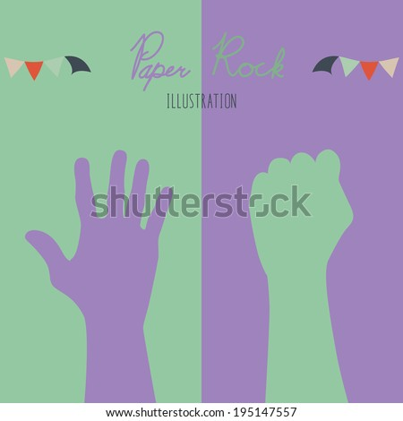 Paper-Rock - stock vector