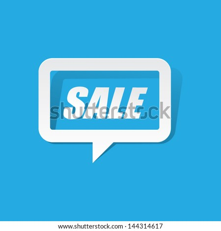 Paper Sale Speech Bubble - stock vector