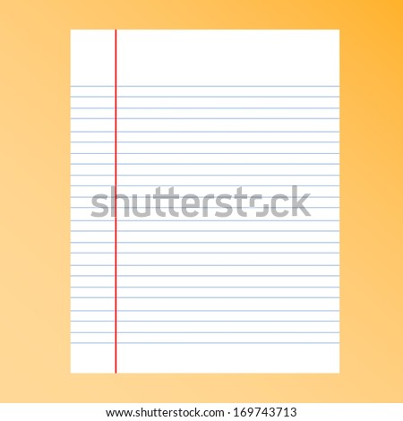 paper separator line and line breaks on background - stock vector