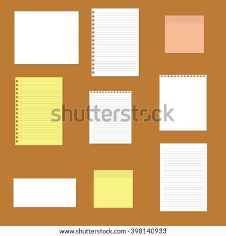 Paper set - stock vector