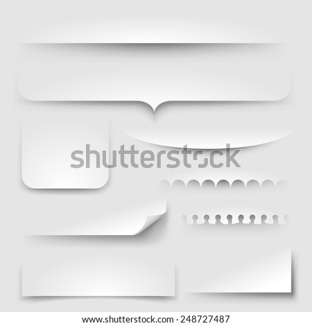 Paper shadows, eps10 vector - stock vector