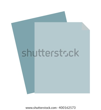 Paper sheet blank and clean paper sheet. Clean paper sheet template texture frame notepad, graphic parchment board notebook. Blank sheet of paper note empty document design business space flat vector. - stock vector