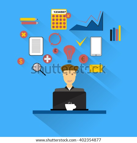 Paper sheet, hands, magnifier, paperwork, consultant, business adviser financial audit, auditing tax process, big data analysis, seo analytics, financial research report, market stats calculate vector - stock vector