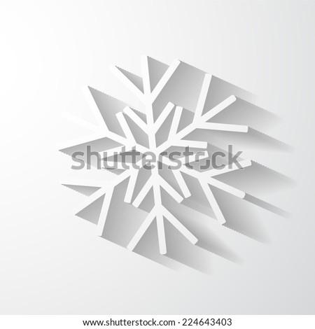 Paper snowflake applique. - stock vector