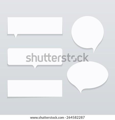 Paper Speech Ballon with Shadow - stock vector