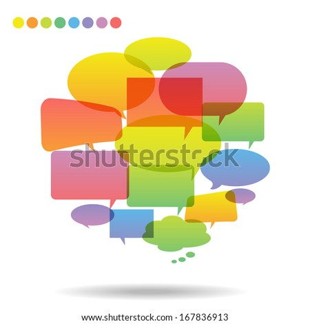 Paper Speech Bubble glossy, Vector Illustration - stock vector