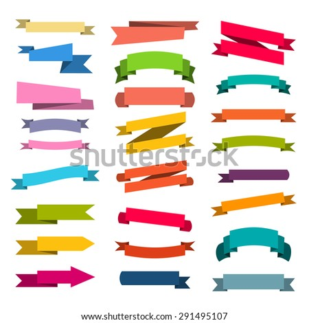 paper sticker, banner advertising, tape assembly label - stock vector